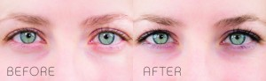 Before and After Brow Tint